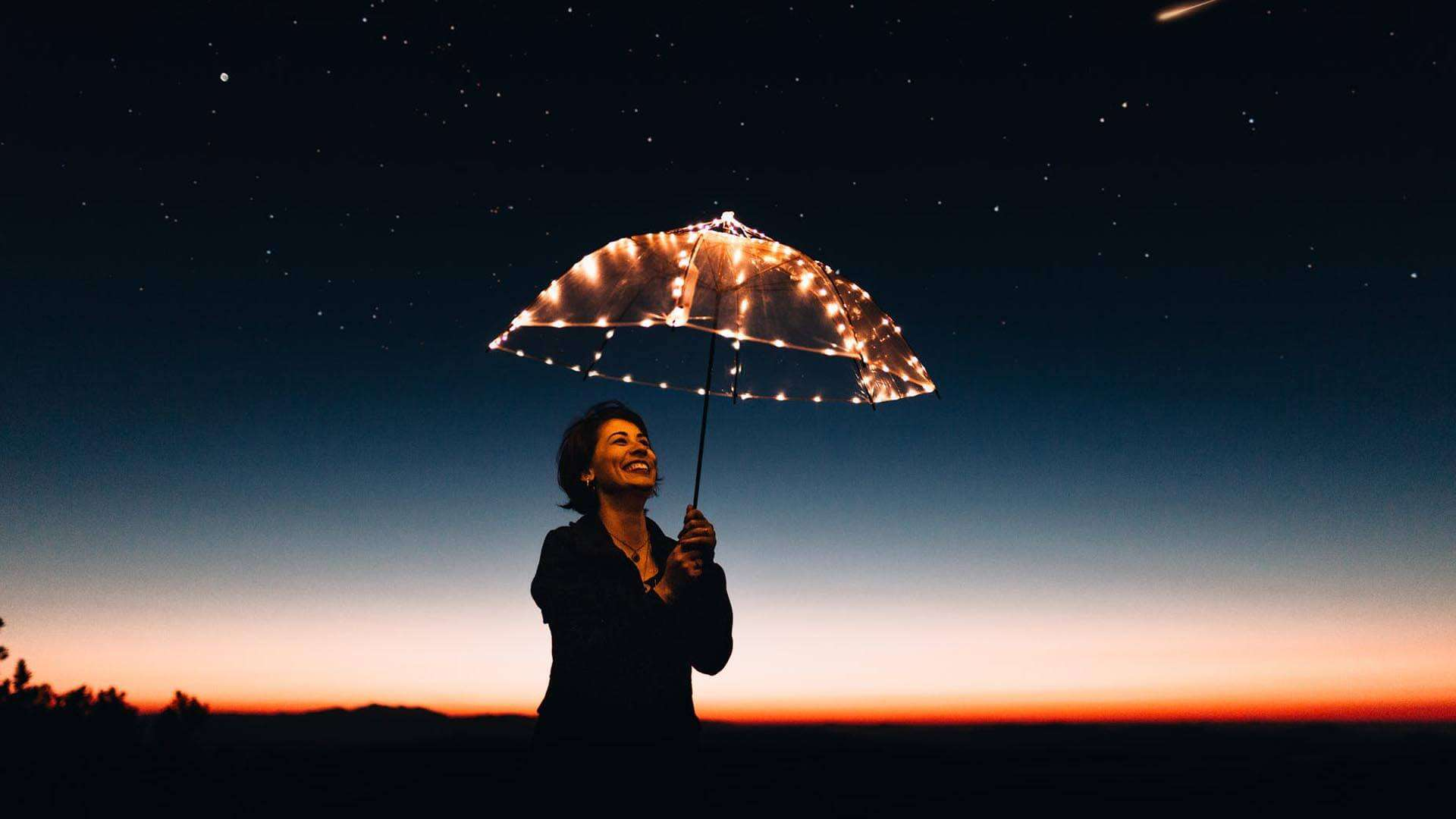 Achieve the best possible outcomes - Lady with Umbrella