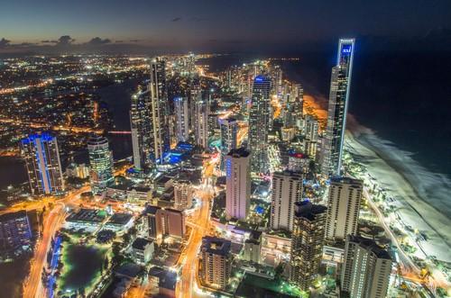 Gold Coast Australia City at Night